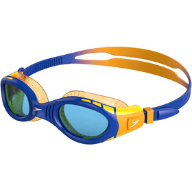 speedo Futura Biofuse Flexiseal Goggles Kinder beautiful blue/mango/blue